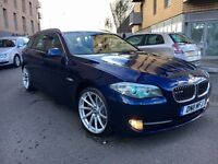BMW 520D ESTATE AUTOMATIC 8 SPEED SATNAV LETHER BLACK PDC FRONT AND REAR FULL SERVICE HISTORY 2011