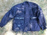 Euro Style Motorcycle Jacket with armour. Black not blue colour.