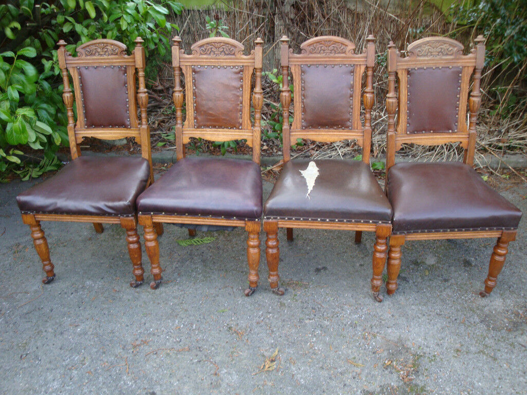 Four Antique Wooden Chairs For Sale In Orpington London Gumtree