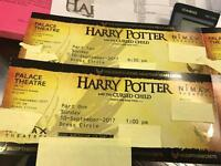 2 x Harry Potter cursed tickets for part one and part 2 same day