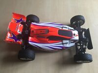 Tamiya Rising Storm RC Car Buggy DF-02 with Hop-Ups, Controller, Battery, Charger