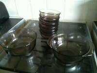 All the glass ware £2