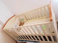 Beautiful half-white baby cot at bargain price!!!