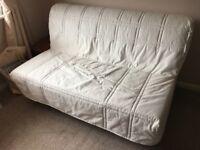 Ikea Lycksele 2 Seater Sofa Bed Cream Cover