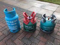 3 x Gas Bottles