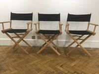 20 x Wooden Directors Chairs For Sale