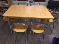 Dining table and chairs (suitable for upcycling)