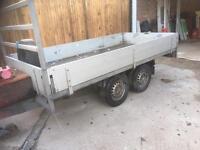 Builders trailer 10 x 5 twin wheel drop sides