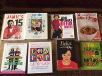 25 Cookbooks and Detox books