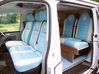 VW T5 Campervan 4 Berth Pop Top. Air Con, Floor Slide Rails. MUST SEE