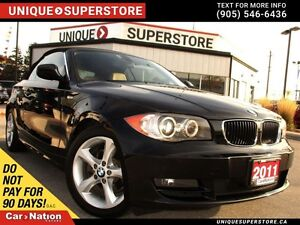 2011 BMW 128I | LEATHER| LOW KM'S| REMOTE START| CONVERTIBLE|