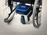 TGA Wheelchair Powerpack Solo WITH CHARGER AND CONTROL NEEDS NEW BATTERY ONLY ONE KEY WITH IT