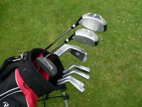 Full set of Mens Ryder ZX Pro golf clubs,good condition