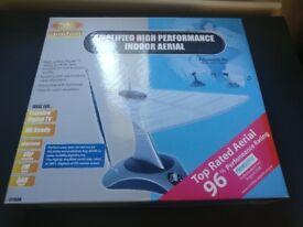 SLX Amplified Indoor TV Aerial (Freeview / FM Radio / DAB) - BNIB