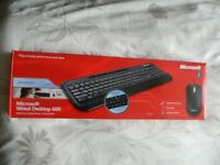 genuine microsoft wired keyboard and mouse £5