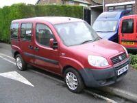 fiat doblo campervan 2006 06 reg new mot 5 speed diesel vgc