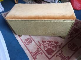 Original Vintage Lloyd Loom Wicker Ottoman Bedroom Furniture