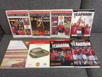 Rare Manchester United Football Yearbooks x 8 1999 triple through to 2007