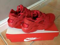 Red Nike huaraches size 4