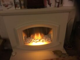 Electric fire complete insert and surround