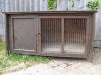 Rabbit Hutch with sleeping section. FREE to take away 4.0' x 2.5' x 2.0' Suitable for outside use
