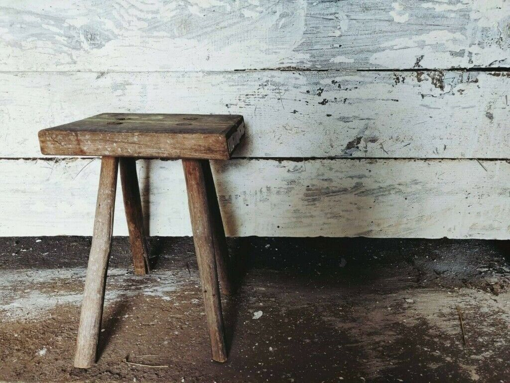 Enjoyable Antique Rustic Hand Carved Wooden Milking Stool Or Small Table In Finsbury Park London Gumtree Pabps2019 Chair Design Images Pabps2019Com