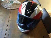 Scorpion motorcycle helmet