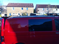 volkswagon transporter t5 swb chrome roof bars nearly new still boxed