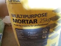"""""""Tarmac"""" multipurpose mortar 25kg bag. Full bag never been opened."""