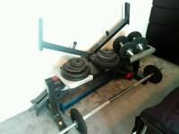 Complete set bench and weights & ...
