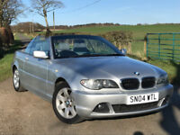 2004 BMW 325 CI SE CONVERTIBLE LOW MILEAGE 2 OWNERS BMW SERVICE HISTORY 2 KEYS EXCELLENT CONDITION