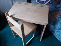 Childrens desk & Chair