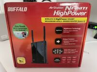 Buffalo AirStation Nfiniti HighPower Wireless N ADSL+ Modem Router