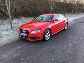 AUDI A4 2.0T FSI S Line 4dr (red) 2009