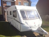Abbey Vogue 495 Touring Caravan 4 berth 2007 Motor Mover full awning & all extras Ready to pitch up