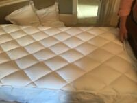2 single mattress toppers. White Company anti allergy microfibre toppers as new never used.