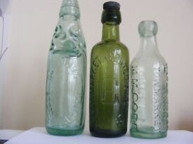 OLD BOTTLES WANTED BY COLLECTOR
