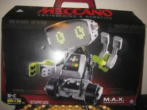 Meccano Erector. M.A.X Robotic Interactive LEGO Toy with Artificial Intelligence. Robot. Fun Game. Control with Voice
