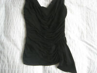Black stretch ruched top from Coast – size 10. Never worn.