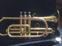 As new Elkhart by VBI Bb ML CORNET with music stand and cleaning kit