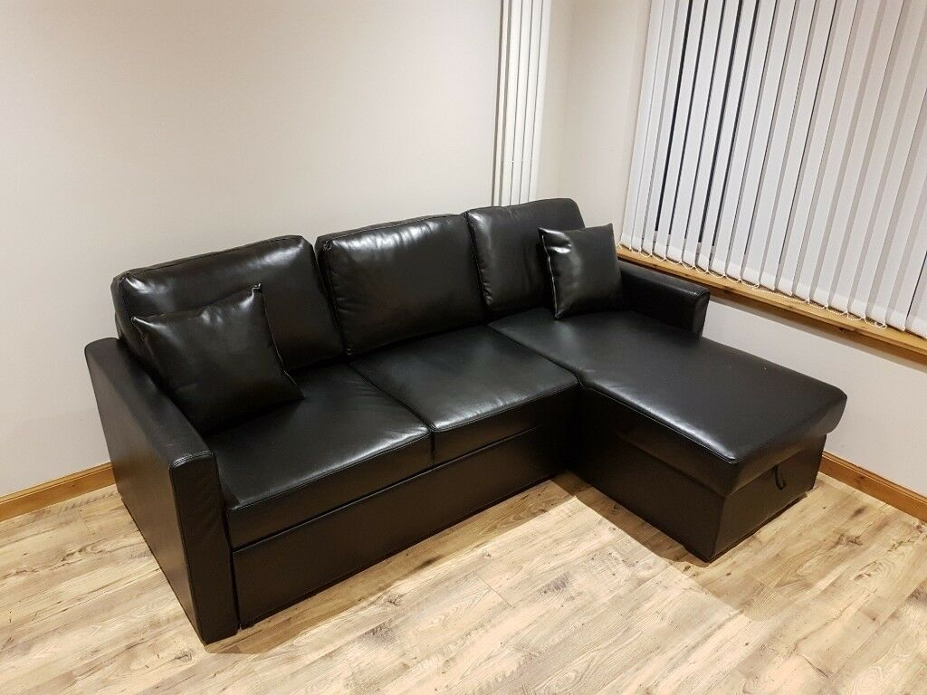 Marvelous Sofa Bed Argos Home Reagan Right Corner Faux Leather Sofa Bed In Black In Inverness Highland Gumtree Onthecornerstone Fun Painted Chair Ideas Images Onthecornerstoneorg