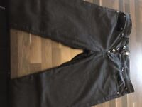 Pretty Green Men's Black Jeans, Slim Fit 34R (used) - Collection Only
