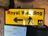 Royal wedding sign!