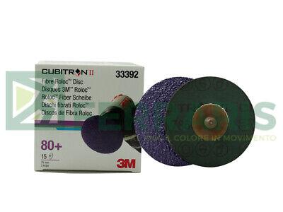 3M 33392 Discos Abrasivos Cubitron II Roloc Grano 80 + Piezas 15