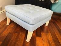 Brand New Sky Blue Wool Footstool