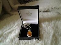 lovely amber locket