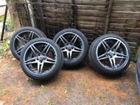 Wheel legend Wheelegend alloys wheels with good tyres