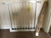 Used once safety gate and extention