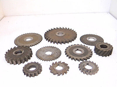 Lot Ll Used 10pcs. Hss Various Milling Cutters