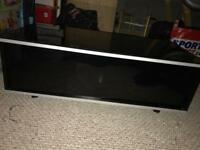 Black piano finish wooden tv stand